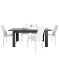 Zingaro - Dining Set Package Zingaro Dining Table + 6 Milan High back Chair White. - FTG - Dining Sets - 4337567601 - 1