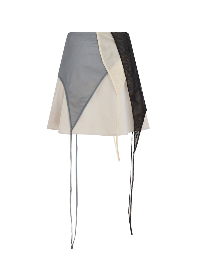 Deconstructed Mini Skirt in Grey