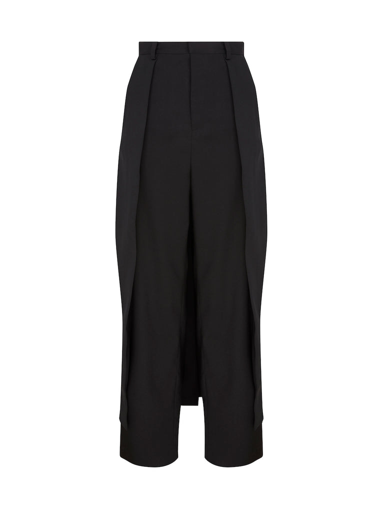 Layered Trousers in Black