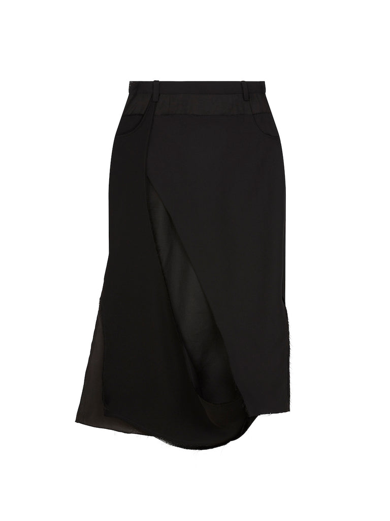 Deconstructed Pencil Skirt in Black