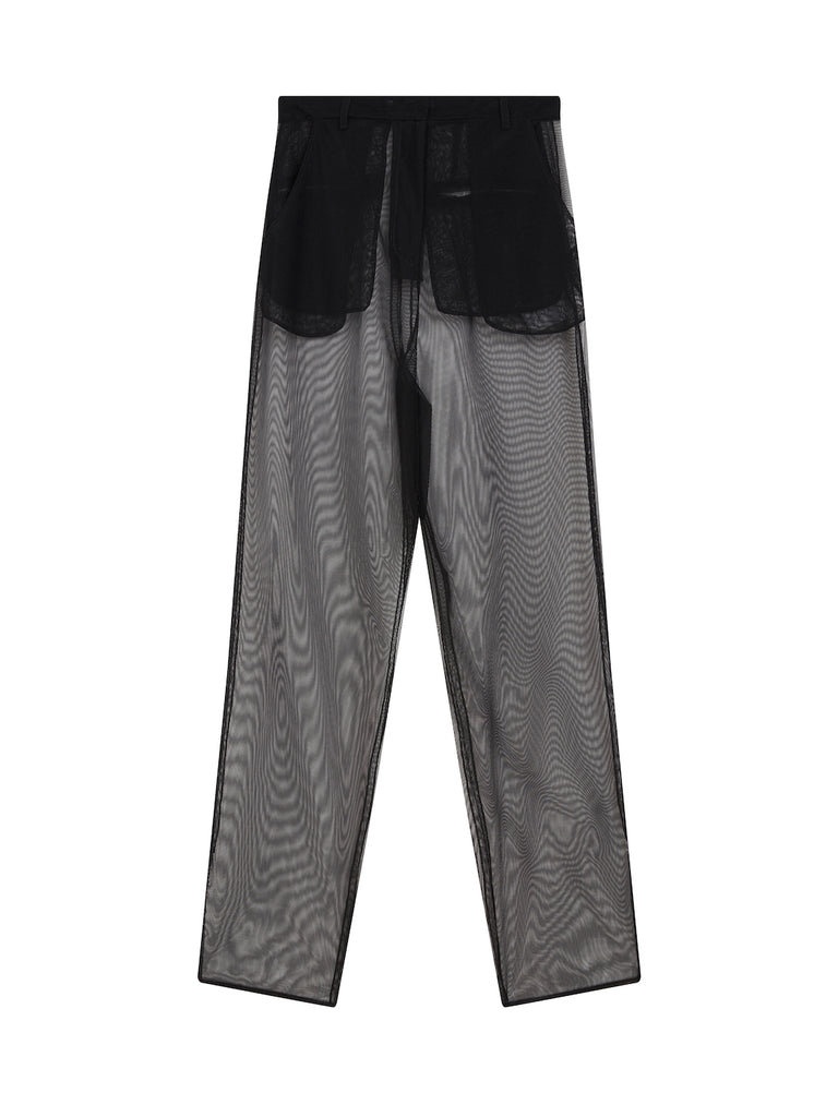 Mesh Trousers in Black