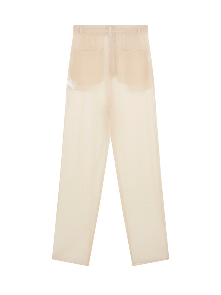 Mesh Trousers in Beige