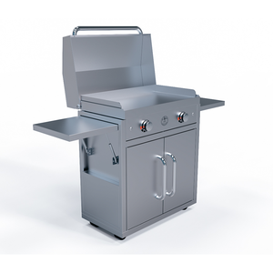 Le Griddle - Stainless Cart, Stainless Lid, & Electric Griddle