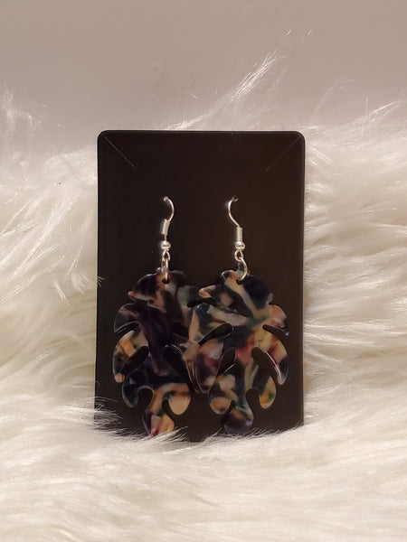 Navy Blue Acrylic Earrings