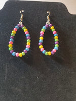 Small oval hoop earrings