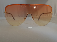 Oversized Frameless Shield Sunglasses-Orange