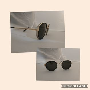 Vintage Inspired Sunglasses-Black Lens/Dark/Green Trim