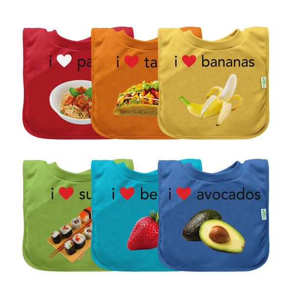 Assorted Pull-over Food Bib (Multiples of 6)