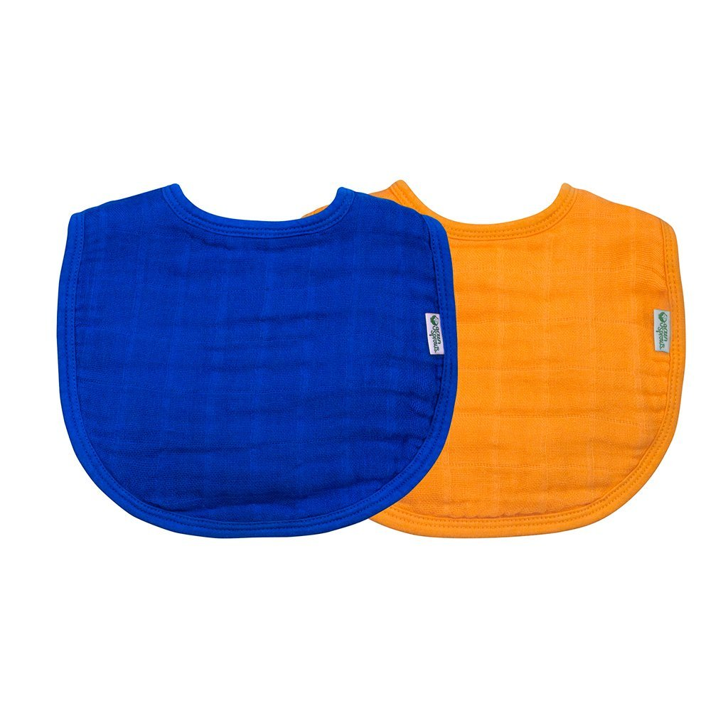 Muslin Bibs made from Organic Cotton (2 pack)
