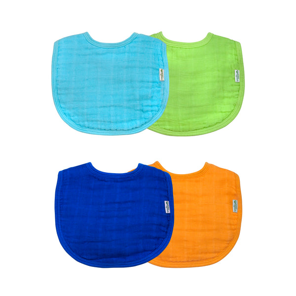 Assorted Muslin Bibs made from Organic Cotton (Multiples of 6)