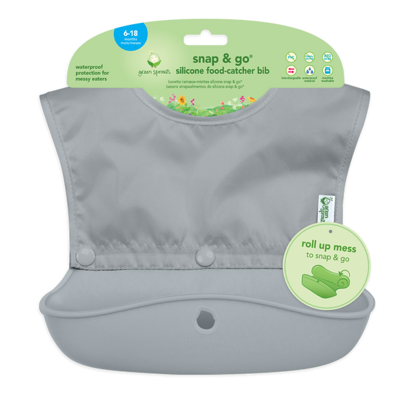 Snap + Go® Silicone Food-catcher Bib