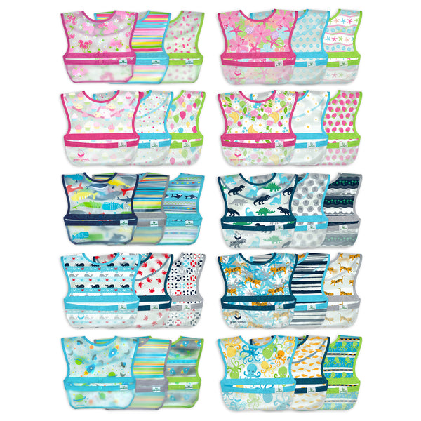 Assorted Snap + Go® Wipe-off Bibs (Multiples of 10)