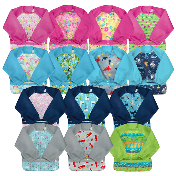 Assorted Snap + Go® Easy-wear Long Sleeve Bib (Multiples of 5)