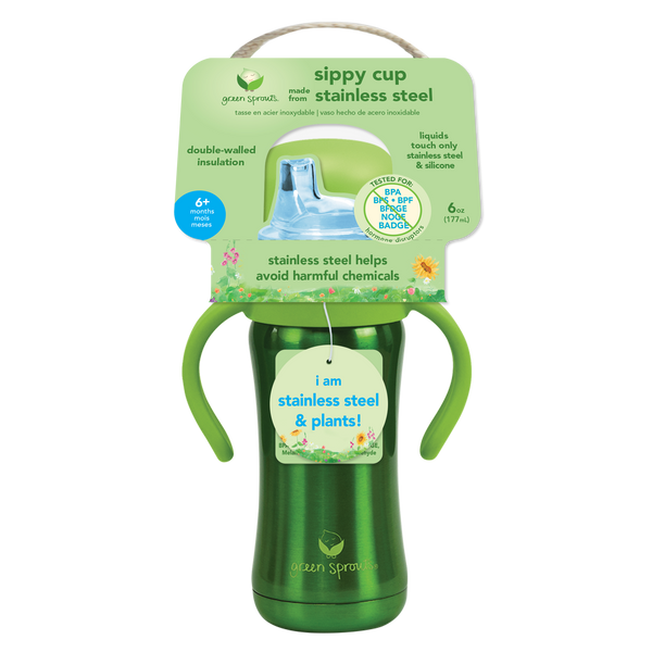 Assorted Sprout Ware® Sippy Cup made from Stainless Steel