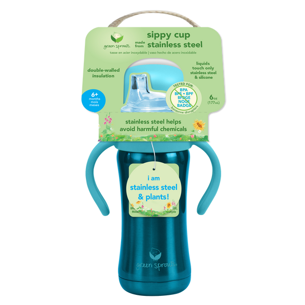 Sprout Ware® Sippy Cup made from Plants and Stainless Steel