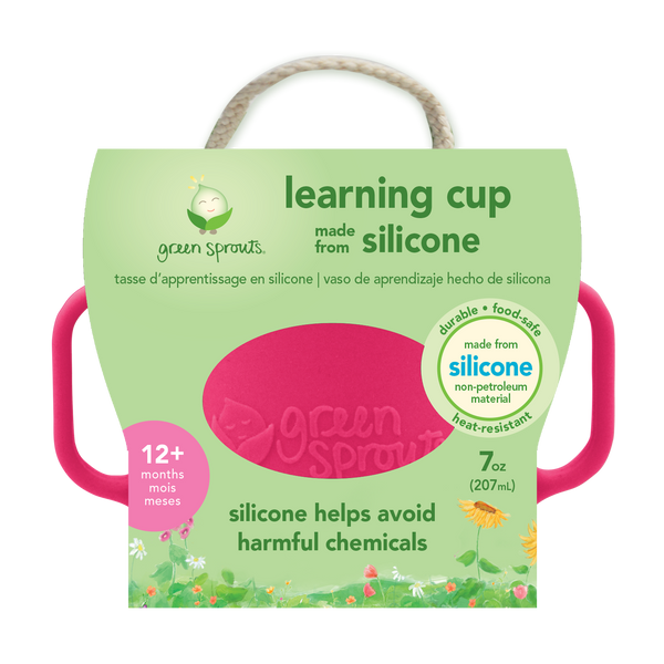 Assorted Learning Cup made from Silicone (Multiples of 3)