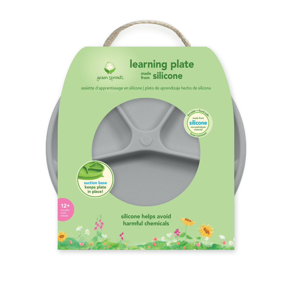 Assorted Learning Plate made from Silicone (Multiples of 3)