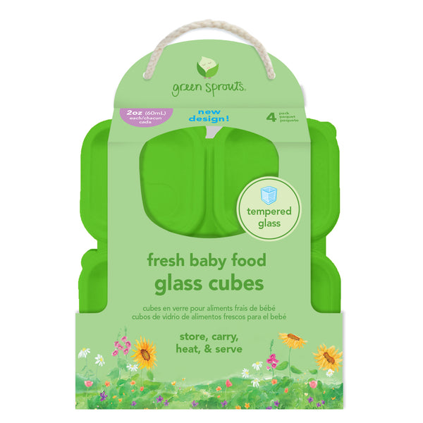Fresh Baby Food Glass Cubes (4 pack, 2 oz)
