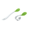 Green Learning Spoon Set