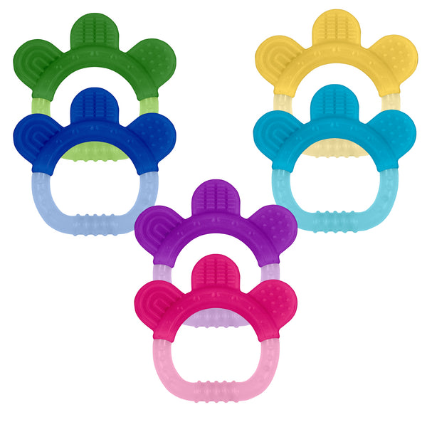 Assorted Everyday Teethers made from Silicone (Multiples of 6)