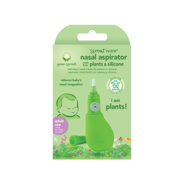 Sprout Ware® Nasal Aspirator made from Plants and Silicone