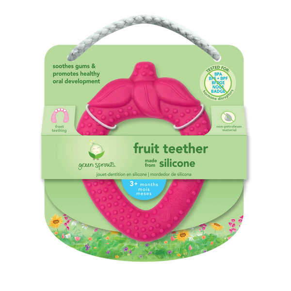 Assorted Fruit Teether made from Silicone (Multiples of 6)