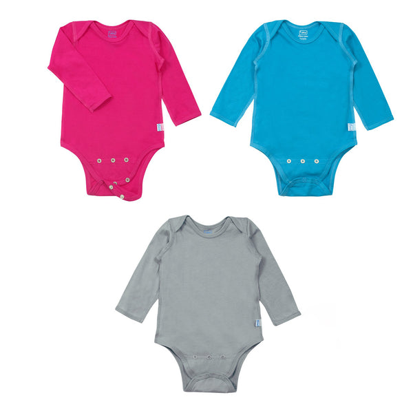 Long Sleeve Adjustable Bodysuit made from Organic Cotton