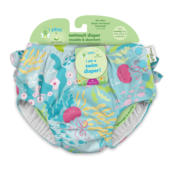 Ruffle Snap Reusable Absorbent Swim Diaper
