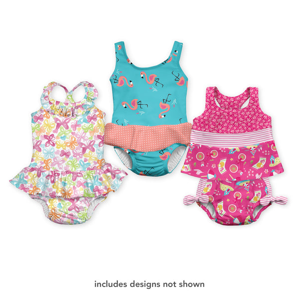 Assorted Girls Swimsuit with Built-in Swim Diaper (Multiples of 6)