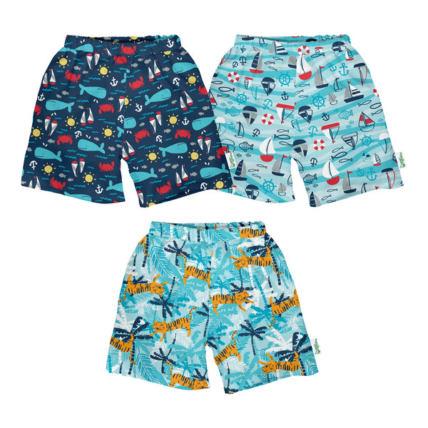 Classic Trunks with Built-in Reusable Absorbent Swim Diaper
