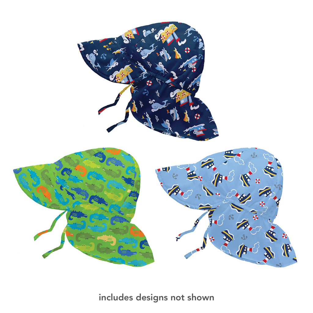Assorted Boy Print Flap Sun Protection Hat (Multiples of 6)