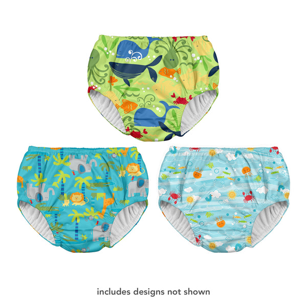 Assorted Unisex Print Pull-up Reusable Swim Diaper on Header - Original (Multiples of 6)