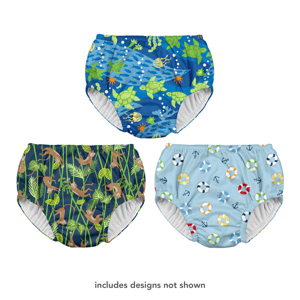 Assorted Boys Print Pull-up Reusable Swimsuit Diaper on Header (Multiples of 6)