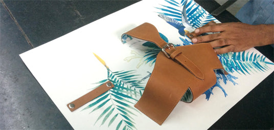 Painting With Leather
