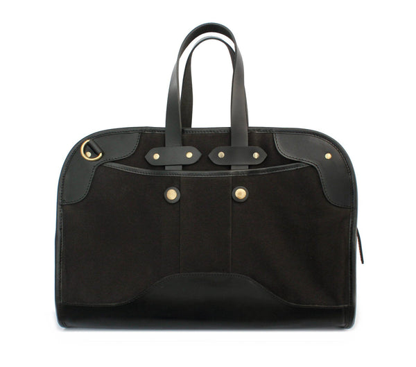 black leather look laptop bag