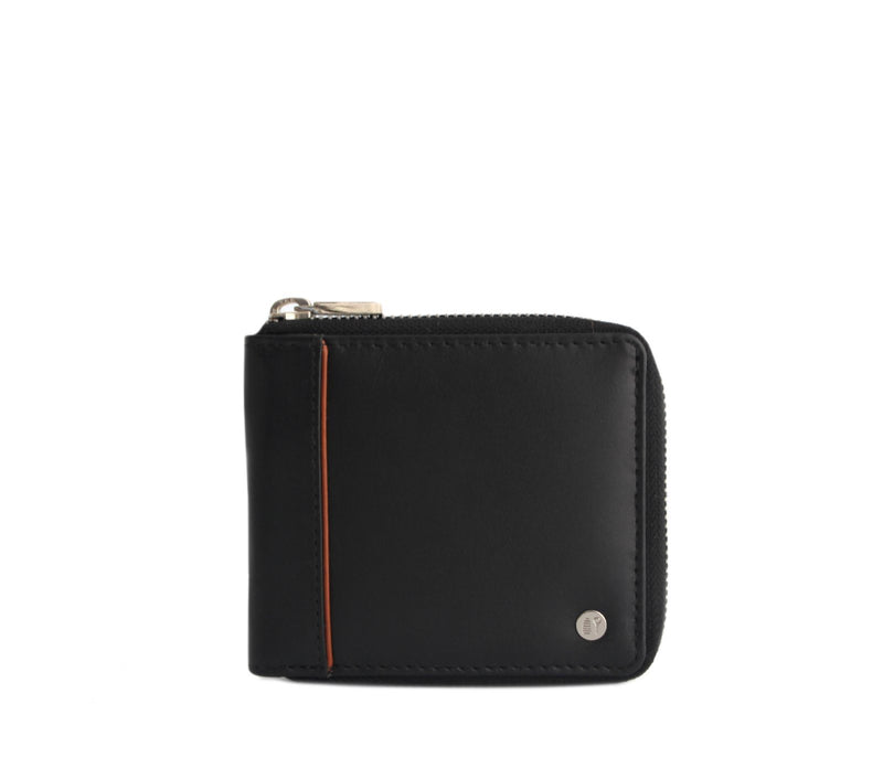 black leather wallet womens