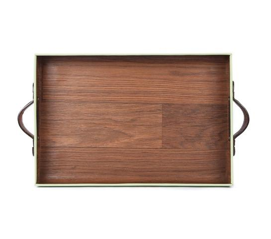 small wooden tray with handles