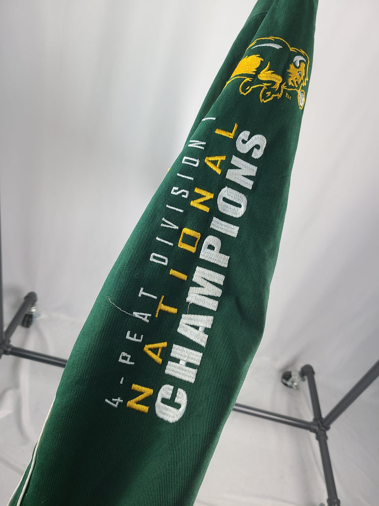 NDSU Letterman 4-Peat Football National Champions Varsity Jacket - Grey Hearts Kelowna