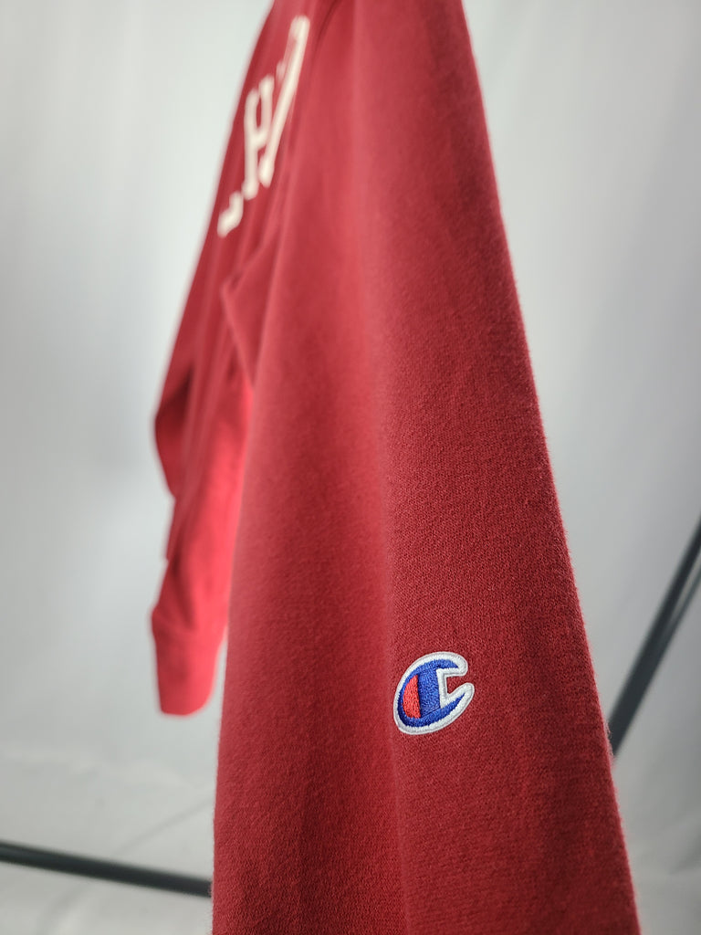 Vintage Champion Crewneck Sweatshirt - Red - Grey Hearts Kelowna