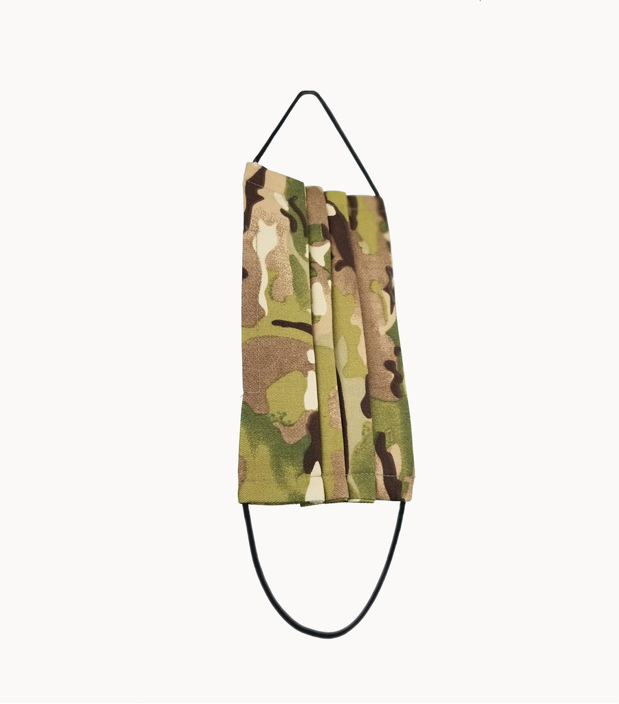 Army Camo Twill Non-medical Protective Facemask - Grey Hearts Kelowna