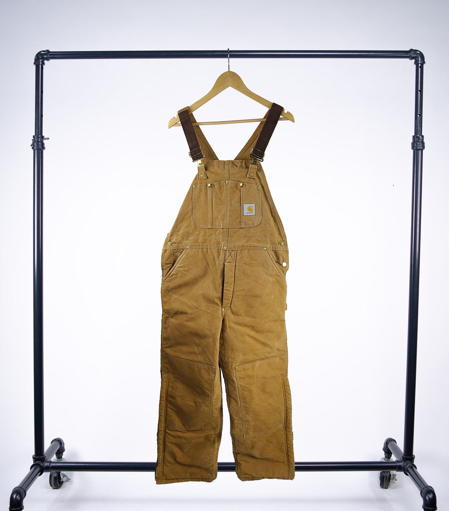 Carhartt Vintage Double Front Duck Canvas Overalls - Grey Hearts Kelowna