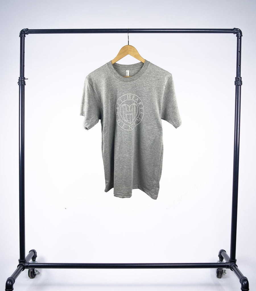 Grey Hearts Denim Heather Grey Shortsleeve Logo Tee - Grey Hearts Kelowna