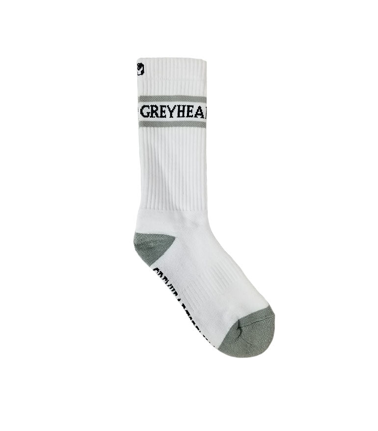 Grey Hearts Denim Font Socks - Grey Hearts Kelowna