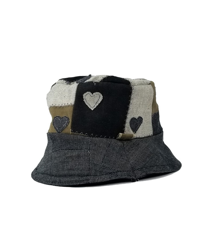 JB x Grey Hearts Denim Zero Waste Denim Hearts Bucket - Grey Hearts Kelowna