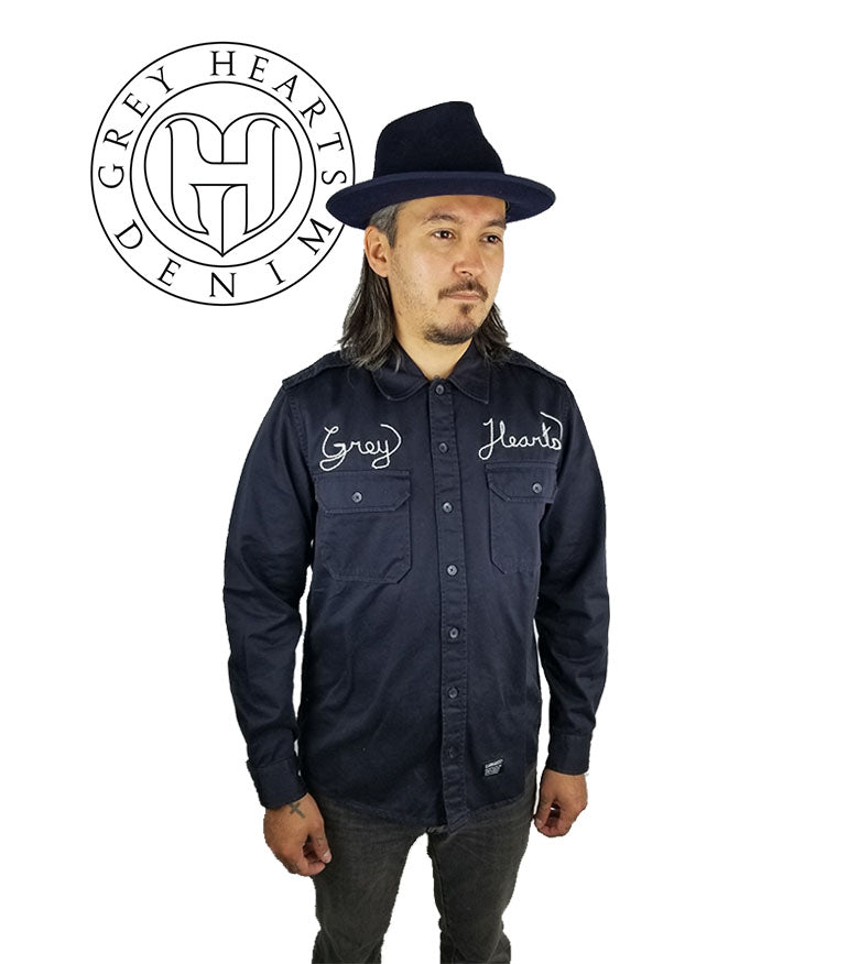 Carhartt WIP Workshirt (GHD x Denim Scratcher Rework) - Grey Hearts Kelowna