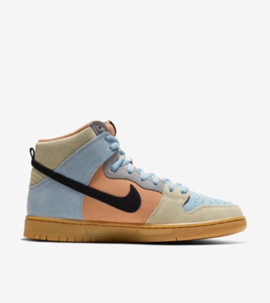 Nike SB Dunk High Pro 'Spectrum Easter' - Grey Hearts Kelowna