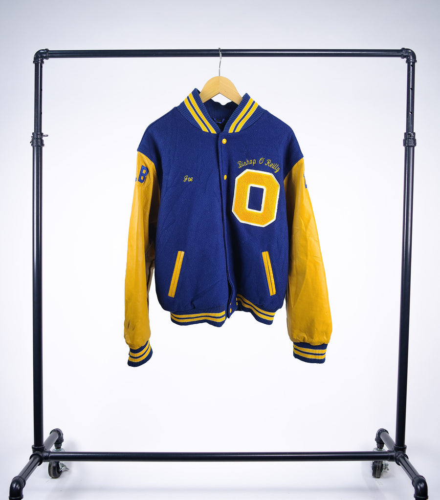 Vintage Letterman Bishop O'Reilly 2 Sport Varsity Jacket - Grey Hearts Kelowna