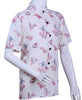 Mens 100% Rayon Short Sleeves Printed Shirt