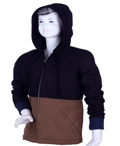 Boys Poly Cotton Hooded Jacket