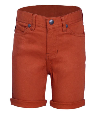 Boys Shorts in 100% Cotton Peached Twill